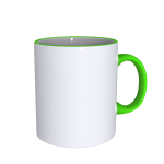11 oz Rim Handle Green Mug