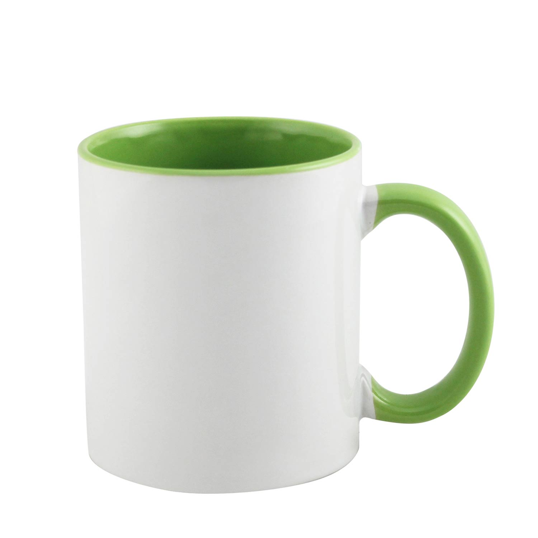 Color Inside Green Mug Sublimationmugs