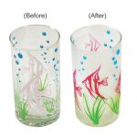Fish Design Color Changing Cold Glass