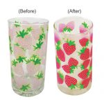 Strawberry Design Color Changing Cold Glass