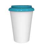 12 oz Travel Mug With Blue Cap