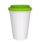 12 oz Travel Mug With Green Cap