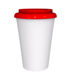 12 oz Travel Mug With Red Cap