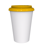 12 oz Travel Mug With Yellow Cap